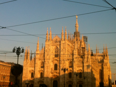 Milano, Duomo. Tarde de outono.