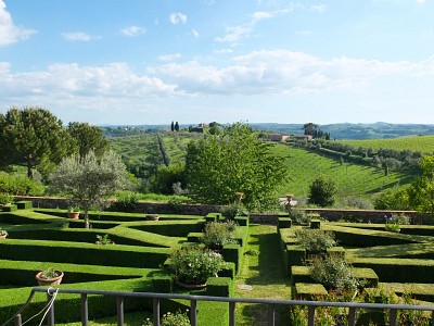 One garden in a historical Villa in Tuscany