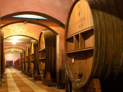 Historical cellars in Piedmont.