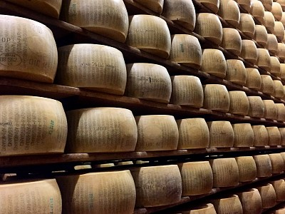 Visiting a parmesan cheese factory, Reggio Emilia
