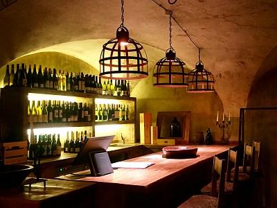 Uma sala particular para degustações de vinho, Toscana