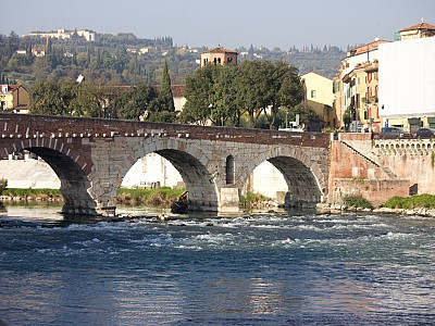 Ponte Pietra bridge, roman time. Verona